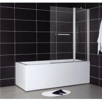 China Easy Clean Glass Folding Shower Screen for Bathtub on sale