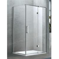 China Swing Hinged Semi Frameless Shower Door Glass in Frosted Hammer Glass on sale