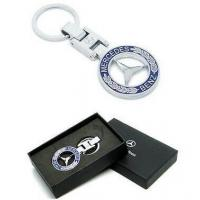 China Black Luxury Box Pack Metal MERCEDES BENZ Branded Logo Keyrings CK-004 wholesale