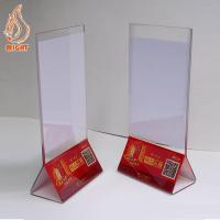 China Display Stands Acrylic Menu Holder wholesale