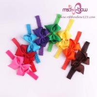 China Wholesale Hair Bows Grosgrain Ribbon Bow Baby Girl Hair Accessories on sale