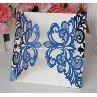 China Laser cut wedding invitations philippines royal blue wedding invitation card wholesale