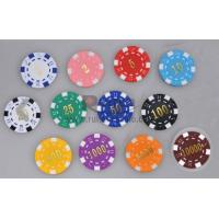 China 11.5g Dice Chip With Stamp Value on sale