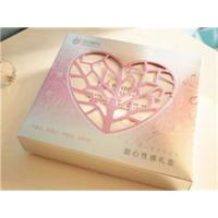 China High Quality Cosmetic Bottle Gift Box With Heart Shape Window wholesale
