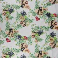Buy cheap Flower printed fashion knitting 100 cotton fabric wholesale from wholesalers
