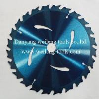 China Transparent-Blue-Coating-Carbide-Tip-Circular-Saw-Blade on sale