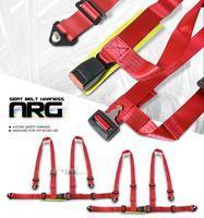 China Accessories 2X Red 4 Point Racing Seat Belts Harness on sale