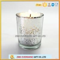 China glass candle holder for decoration candle jars with plating colors wholesale