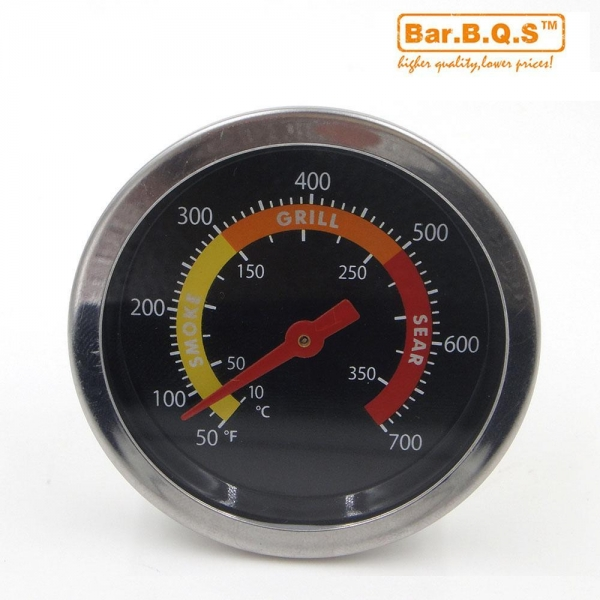 Quality 01T08 Barbecue BBQ Smoker Grill Thermometer Temperature Gauge for sale
