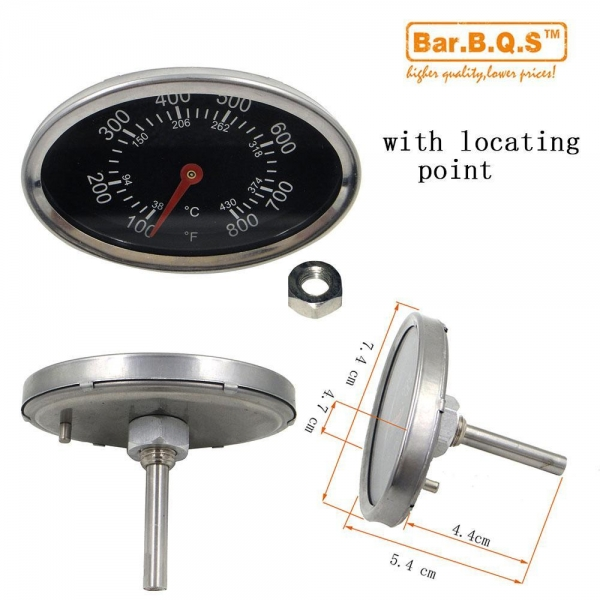 Quality 01T11 Bar.B.Q.S Outdoor Stainless Steel BBQ Oven Thermometer Temp Gauge for sale