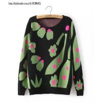 China V23-6910(B5-3-2G)Abstract flower print knit sweater hedging wholesale