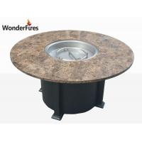 China 42 inch Round granite top fire pit table wholesale