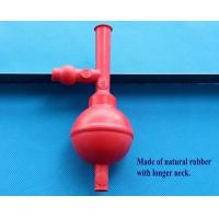 China rubber Longer Neck 3 Way Pipette Bulb Safety Pipet Filler 3 Valves on sale
