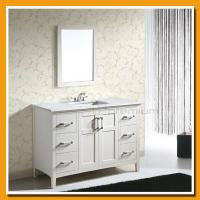 China Big size/Plywood cabinet/Complete white/Floor type/Country style/ Wood bathroom vanity SP-7106 wholesale