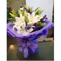 China Birthday 6 stem lilies with statice delivery NO.1 birthday gift to austr wholesale