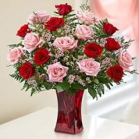 Buy cheap Valentine's Day Shades of Pink and Red Premium Long Stem Roses.No.69 send flower from wholesalers
