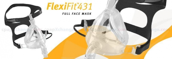Quality All Masks FlexiFit 431 Full Face CPAP/BiPAP Mask FitPack with Headgear for sale