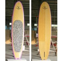 China Bamboo Veneer Sup paddle board with Pink Color Rail wholesale