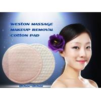 China Pocket Designed Double Face Scrubs Dotted Massage Make Up Removal Cotton Pads wholesale