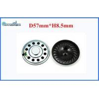 Buy cheap 90dB Loudspeaker 57mm Mini Mylar Speaker with 0.8W Rated Power For Toy Or Radio from wholesalers