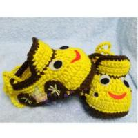 China 2017 Wholesale cotton spring prewalker hand knit yellow car cute baby shoes on sale