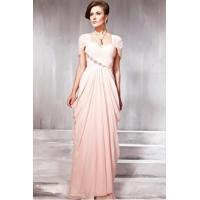 China Prom Dresses Beautiful Couture Light Pink Short Sleeve Prom Dress - 1568682 on sale