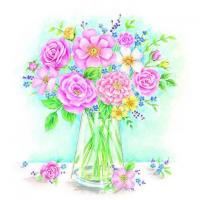 China S317 Mixed Roses in a Vase (for 6 cards) wholesale
