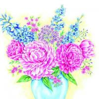 China S313 Peonies & Floral mixture (for 6 cards) wholesale