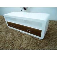 Buy cheap Chair white high gloss TV stand with two drawers 6507 from wholesalers