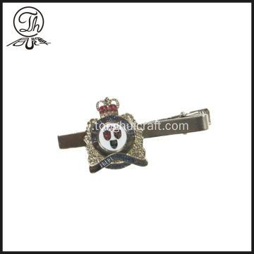 Quality Royal Crown tie bar clip silver for sale