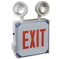 China Big Beam Wet Location LED Exit Sign with Emrgency Lights wholesale