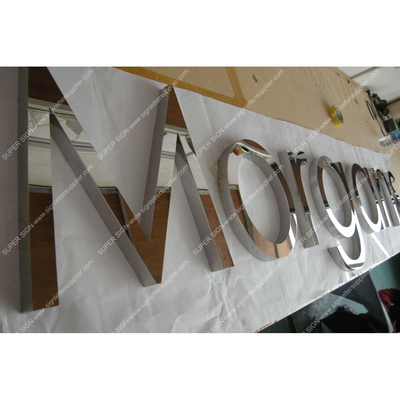 Buy cheap polished steel letters 01 from wholesalers