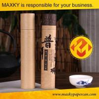 China Round Kraft Paper Tube Box Packaging for Tea and T Shirt Gift Cylinder Box on sale
