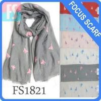 fashion butterfly scarf solid