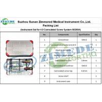 China Orthopaedic 60206A Packing List of Instrument Set for 4.0 Cannulated Screw System wholesale