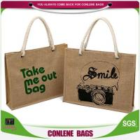 China Full Printing Lovely Heavy Loading Jute Bags Manufacturing Project Report on sale