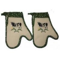 China Embroidered Cow Oven Mitts - Set of Two wholesale