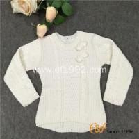China Long Sleeved Crew Collar Sweater with Cable Knitting wholesale