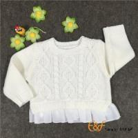 China Fashion Cable Knitted Girls Sweaters with Chiffon He wholesale