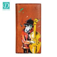 Buy cheap Hotsale Handmade Custom Brand Cartoon Characters Cowhide Leather Long Purse Leather Casual Wallet from wholesalers