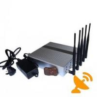 China Desktop Remote Control GPS Jammer Cell Phone Blocker Jammer Device With 5 Powerful Antenna wholesale