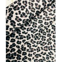 China 60%cotton 37%polyester 3%spandex Cotton-Polyester Stretch Twill Leopard Print Fabric wholesale