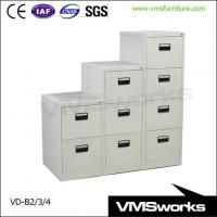 China Black Handle Vertical Filing Cabinet 2/3/4 Drawer Office Storage on sale
