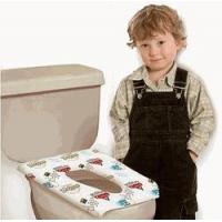 China 10 Pack Potty Topper Disposable Stick In Place Toilet Seat Covers on sale