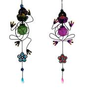 China metal solar frog Wind Chime Garden Home Decor wholesale