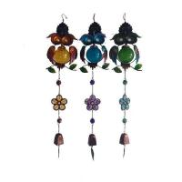 China Glass owl wind bell/Copper/Owl/Solar Outdoor Decor wholesale