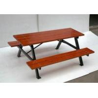 China Arlau Tb-W11 Round Teak Table With Iron Base, Cheap Outdoor Camping Table Factory, Table And Set wholesale
