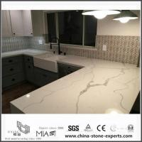 Buy cheap Most Popular White Quartz Countertop Colors for Kitchen Design from wholesalers