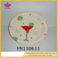 China Ceramic Round Dinner Plate for Wedding Ceramic Round Tray Slate Plate wholesale