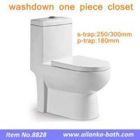 China Mid-east Bathroom Sanitary Ware Washdown One piece Closet with 250mm 300mm Roughing-in on sale